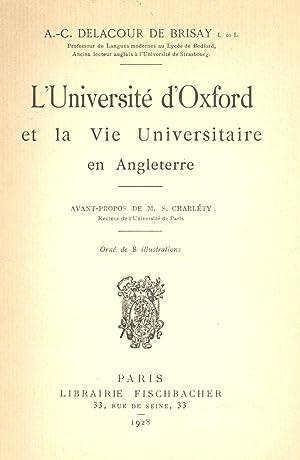 L UNIVERSITE D OXFORD ET LA VIE: Delacour de Brisay