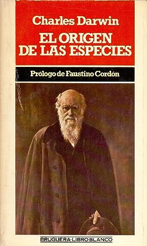 EL ORIGEN DE LAS ESPECIES (prologo Faustino Cordon) (libro blanco num 1511): Charles Darwin