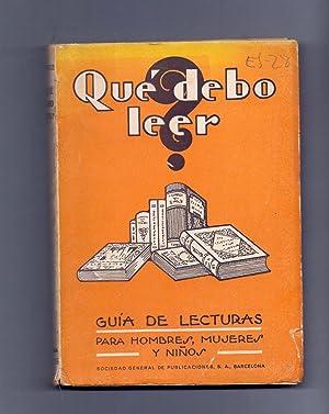 QUE DEBO LEER - GUIA DE LECTURAS: Jose M. Borras