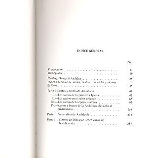 ANDALUCIA, TIERRA DE SANTOS - SANTOS, BEATOS, VENERABLES Y SIERVOS DE DIOS, NACIDOS O FALLECIDOS EN...