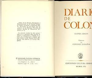 EL DIARIO DE COLON: Cristobal Colon ( Prologo de Gregorio Marañon)
