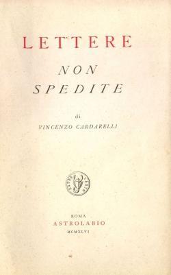 Lettere non spedite: CARDARELLI Vincenzo