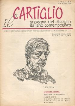 IL CARTIGLIO. Rassegna del disegno italiano contemporaneo. Edizione quindicinale degli stab.ti ...