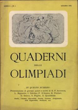 QUADERNI DELLE OLIMPIADI. Direttore responsabile Angelo Taliaco.: QUADERNI DELLE OLIMPIADI