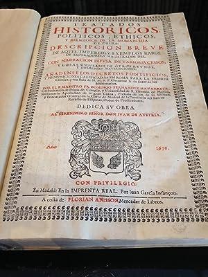 Tratados históricos, políticos, ethicos y religiosos de: FERNANDEZ NAVARRETE (Fray