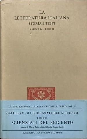 SCIENZIATI DEL SEICENTO. Tomo II.,: ALTIERI BIAGI Maria