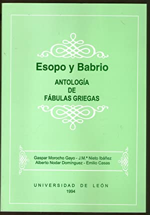 ESOPO Y BABRIO - ANTOLOGIA DE FABULAS: VV.AA