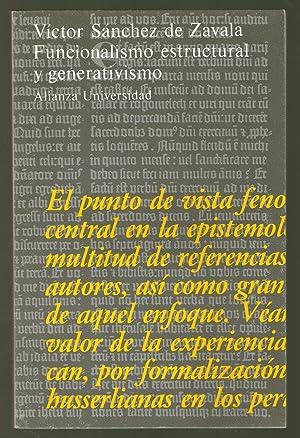 FUNCIONAMIENTO ESTRUCTURAL Y GENERATIVISMO: APORTACIONES A UN: Sánchez de Zavala,