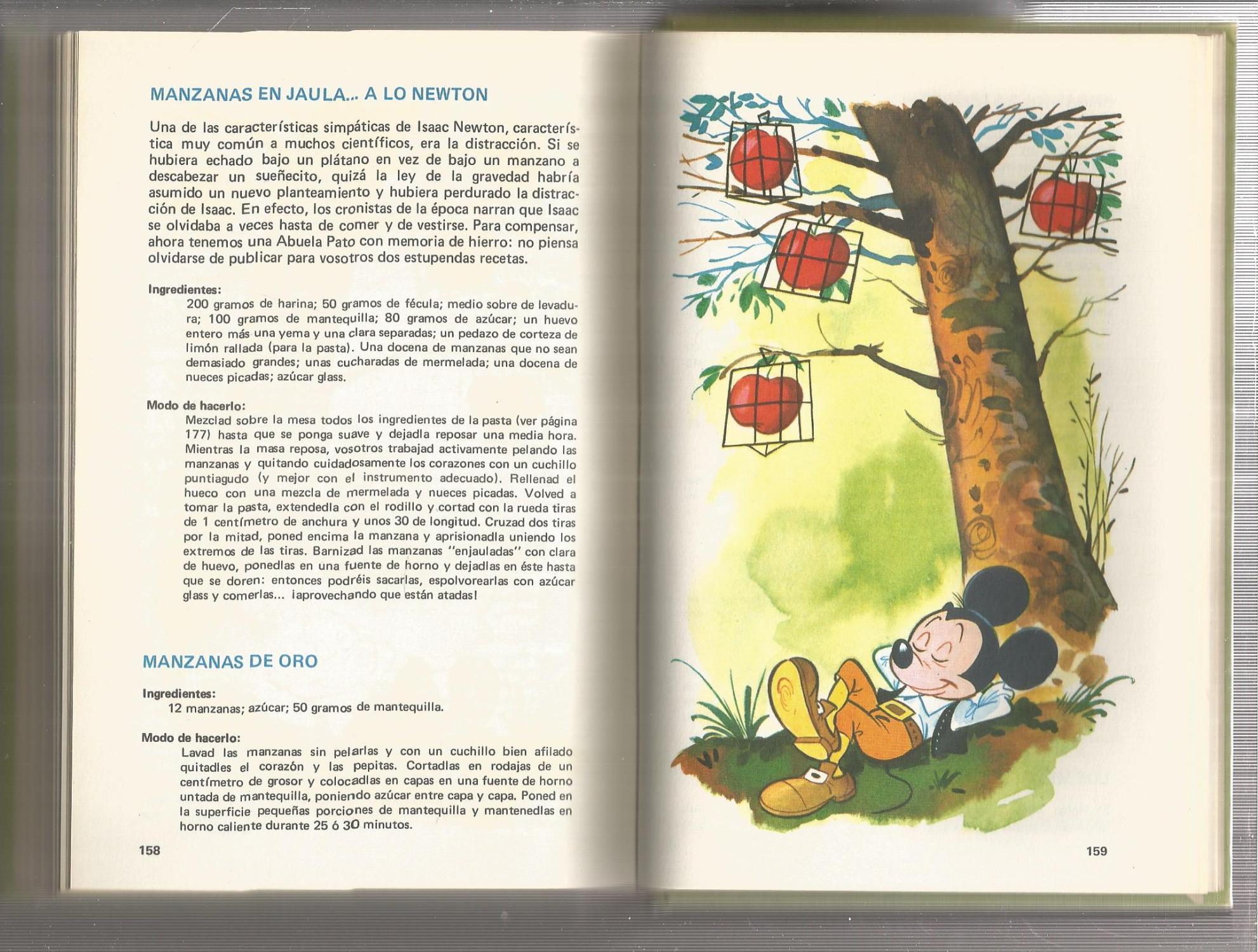 Manual de la abuela pato (manuales disney) con recetas de cocina.