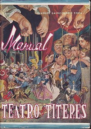 MANUAL DE TEATRO DE TITERES Dibujos del: MANUEL SAINZ PARDO