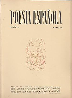 POESIA ESPAÑOLA Nº 2 - Febrero 1952: Director-JOSE GARCIA NIETO
