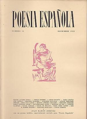 POESIA ESPAÑOLA Nº 12 - DICIEMBRE 1952: Director-JOSE GARCIA NIETO
