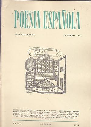 POESIA ESPAÑOLA Segunda Epoca Nº 118 OCTUBRE: Director-JOSE GARCIA NIETO