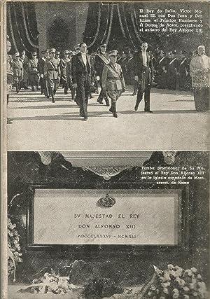 CONFESIONES Y MUERTE DE ALFONSO XIII (colección ABC) algunas láminas fotos en b/...