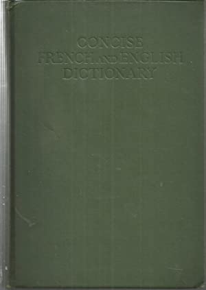 HARRAP S CONCISE FRENCH AND ENGLISH DICTIONARY (French-English/English-French in one volume