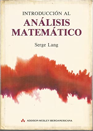 INTRODUCCION AL ANALISIS MATEMATICO