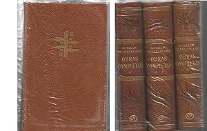 OBRAS COMPLETAS de Shakespeare (3 TOMOS) OBRA: SHAKESPEARE, WILLIAM