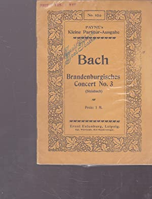 BRANDENBURGISCHES CONCERT No 3 (Steinbach) PARTITURA MUSICAL