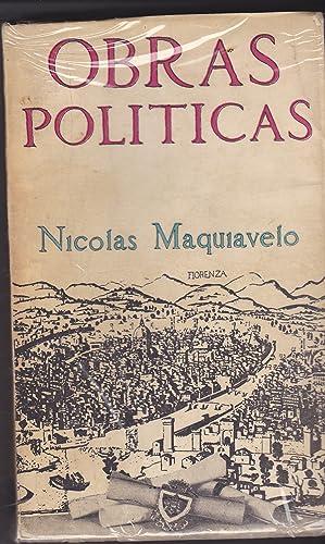 OBRAS POLITICAS DE NICOLAS MAQUIAVELO (Edición de 5000 ejemplares): NICOLAS MAQUIAVELO ...