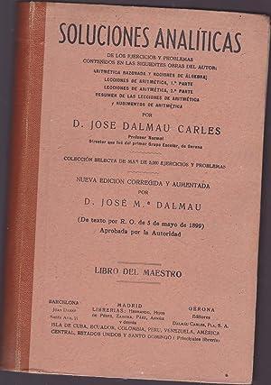 SOLUCIONES ANALITICAS -LIBRO DEL MAESTRO Soluciones Analíticas de los ejercicios y problemas...