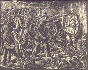 L'assassinio di Benito Mussolini (stampa dalla monografia). Xilografia.: STAMPINI PINO.
