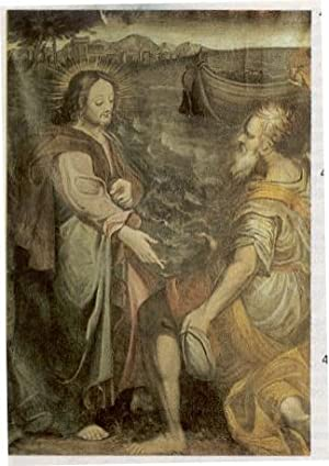 Gesù con Apostolo in riva al lago.: ANONIMO (COLLABORATORE DI
