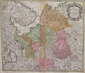Mappa imperii Moscovitici pars Septentrionalis.: GUILLAUME DE L'ISLE.