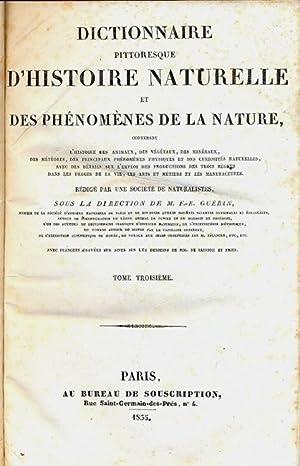 Dictionnaire pittoresque d'histoire naturelle et des phenomenes de la nature. Contenant l&#x27...