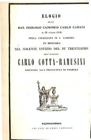 Elogio detto dal Teologo canonico Carlo Camani il 29 Luglio 1846 nella collegiata di S.Lorenzo in ...