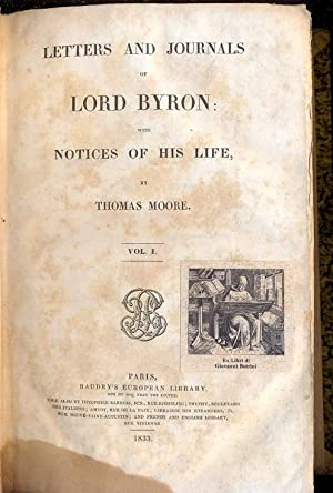 Letters and journals. With notices of his: BYRON GEORGE (LORD).