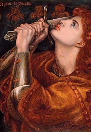 Postal del cuadro Juana de Arco: Dante Gabriel Rossetti