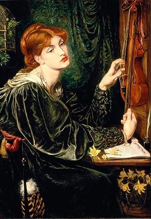Postal del cuadro Veronica Veronese: Dante Gabriel Rossetti
