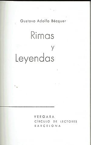 Rimas y leyendas.: Gustavo Adolfo Bécquer.