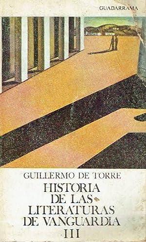 Historia de las literaturas - de Vanguardia,: Guillermo de Torre.