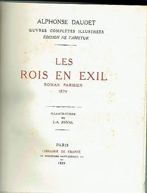 Les rois en exil. Roman parisien.: Alphonse Daudet.
