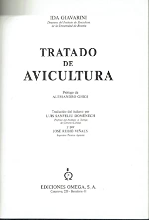 Tratado de avicultura.: Ida Giavarini.