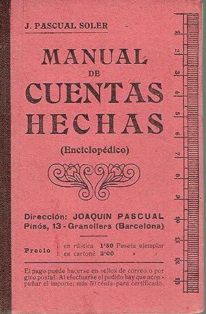 Manual de cuentas hechas. Seguido de tablas: J. Pascual Soler.