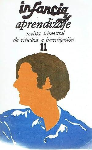 Infancia y aprendizaje, nº 11. Revista trimestral de estudios e investigación.