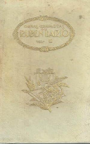 Poemas de juventud. Obras completas, volumen II.: Rubén Darío.