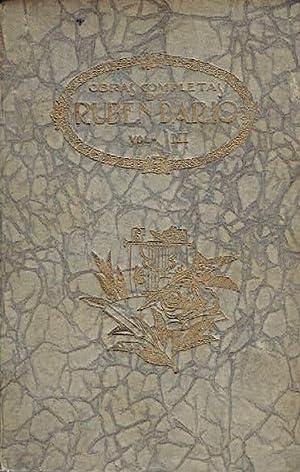 Primeros cuentos. Obras completas, volumen III.: Rubén Darío.
