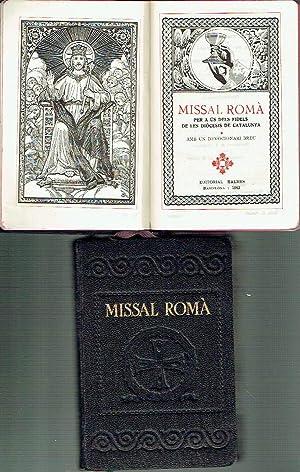 Missal romà, 2 vols. Per a ús