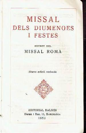 Missal dels diumenges i festes. Extret del