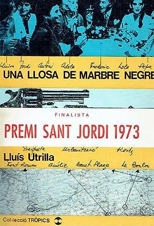 Una llosa de marbre negre.: Lluís Utrilla.