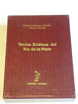 Textos eróticos del Río de la Plata: Lehmann-Nitsche, R. (Victor