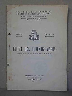 Ritual del Aprendiz Mason. 1º de Rito