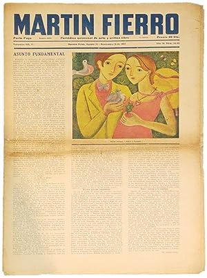 REVISTA MARTIN FIERRO. Periódico Quincenal de arte
