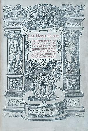 Las Horas De Nuestra Seora Segun El Printed Book Of