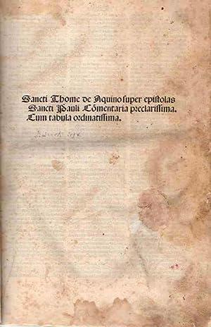 Commentaria in Omnes Epistolas S. Pauli .: Santo Tomás de Aquino
