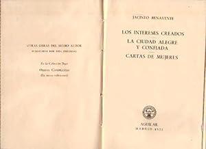 2 comedias y cartas de mujeres. Los: Benavente, Jacinto