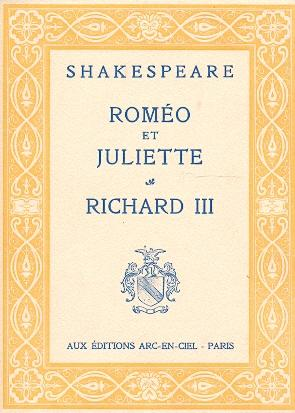 Oeuvres Complétes (15 Vols) .: Shakespeare, William